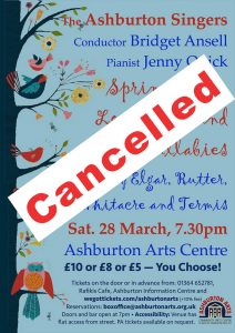 Next concert poster - cancelled