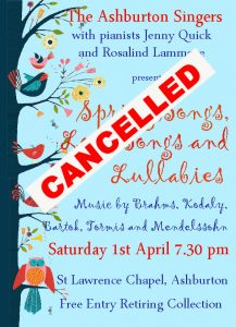 Spring Concert Cancelled